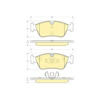 Bosch - Fren Balatası Ön (Bmw 1 Serısı (E87) (09/04-) '120 D (09.2004-) [ 149,5/150X57,5X17,5 Mm ] - - Bsc 0 986 Tb2 668