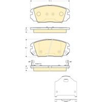 Bosch - Fren Balatası Ön (Hyundaı Sonata V 3.3I V6 (01/05-) [ 131,5X60,1X17,5/17,9 Mm ] - Bsc 0 986 Tb2 933
