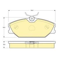 Bosch - Fren Balatası Ön (Renault Clıo Iı (B/C/B0/1_)(09/98-) [Wva 23172] - [ 129X55,6X18 Mm ] - - Bsc 0 986 Tb2 106