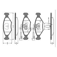 Bosch - Fren Balatası Ön (Fıat Sıena (04/96-) [Wva 23775] - [ 151,4X49x18 Mm ] - İkaz Kablolu - Bsc 0 986 Tb2 156