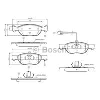 Bosch - Fren Balatası Ön (Fıat Brava/Bravo (10.1995-10.2001) - Bsc 0 986 Tb2 282