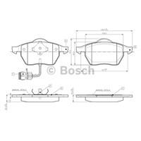 Bosch - Fren Balatası Ön (Audı 100 (44) [Wva 20676] - [ 156,4X74,2X19,5/20,3 Mm ] - İkaz Kablolu - Bsc 0 986 Tb2 213