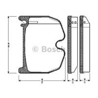 Bosch - Fren Balatası Ön (Mb Clk (C209)(06/02-) [Wva 23943] - [ 97,5X78,1X17 Mm ] - - Bsc 0 986 Tb2 452