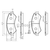 Bosch - Fren Balatası Ön Ducato Iıı -Boxer Iıı /Jumper Iıı 06> 18Q 2.2 Hdı 2.3 M.Jet - Bsc 0 986 Tb3 029