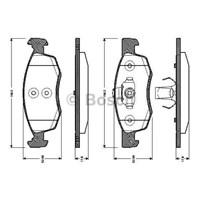 Bosch - Fren Balatası Ön (Dacıa Logan Mcv 1.4,1.6,1.6 16V,1.5 - Bsc 0 986 Tb3 038