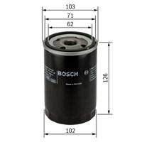 Bosch - Yağ Filtresi (Hyundaı: Galloper 2.5) - Bsc 0 986 Tf0 087