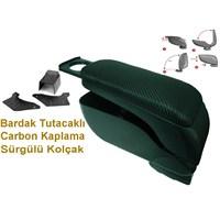 Sürgülü-Bardak Tutacaklı-Karbon Kaplama kol dayama kolçak