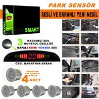 Park Sensörü Ses Kontrol Düğmeli Ekranlı Gri Lensli