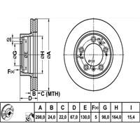 Bosch - Fren Diski Ön Porsche Boxster - Bsc 0 986 478 477