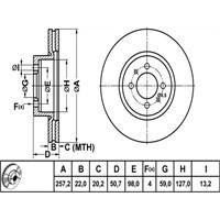 Bosch - Fren Diski Ön Alfa Romeo - Bsc 0 986 478 512