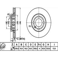 Bosch - Fren Diski Ön [239 / 18-16 Mm], Hava Kanallı (Seat Arosa) - Bsc 0 986 478 621