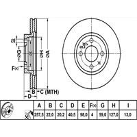 Bosch - Fren Diski Ön Hava Kanallı Fıat Doblo Fiorino Lınea - Bsc 0 986 478 639
