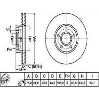Bosch - Fren Diski Ön Ford Transıt Connect 1.8 Tdcı 02> - Bsc 0 986 479 069