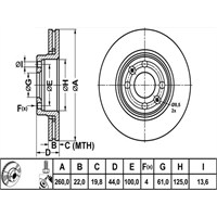 Bosch - Fren Diski Ön Renault Clıo Iıı Nıssan Micra - Bsc 0 986 479 103