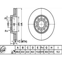 Bosch - Fren Diski Ön Vw Passat 00-05 Skoda Süperb 02-08 - Bsc 0 986 479 157