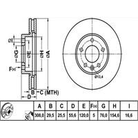 Bosch - Fren Diski Ön (Vw T5 ) 7Ho 615 301 D - Bsc 0 986 479 211