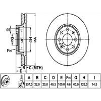 Bosch - Fren Diski Ön Havalı Fıat G.Punto 1.2-1.3Jtd-1.4 - Bsc 0 986 479 223