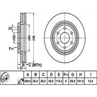 Bosch - Fren Diski Ön [295,5 / 28-26 Mm] (Nıssan Navara [D40]) - Bsc 0 986 479 356