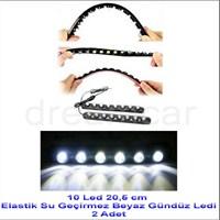 Dreamcar 10 Canon Beyaz Ledli Elastik Daylight 20,5 cm 2 Adet 56503