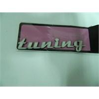 Speed tuning Sticker 12x2cm Beyaz