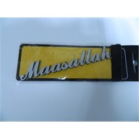 Speed Maaşallah Sticker 13x2cm Gri
