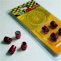 Dreamcar Aluminyum Sibop Kapağı 4'lü Set Kırmızı 8010028
