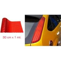 ModaCar 3D KIRMIZI Stop Filmi 30 cm x 1 Metre 37p013