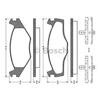 Bosch - Fren Balatası Ön (Vw Golf-Iı (19E)(08/83-12/92) [Wva 20887] - [ 137,8X51,20/49,00X15,3 Mm ] - - Bsc 0 986 Tb2 089