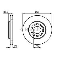 Bosch - Fren Diski Ön Vw Golf Bora Audı A3 - Bsc 0 986 478 853