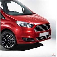 S-Dizayn Ford Courier 2014 Model Ve Üzeri Krom Ön Tampon Çıta 2 Prç. P.Çelik