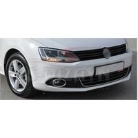 S-Dizayn Volkswagen Jetta 2011 Model ve Üzeri Ön Tampon Çıtası U Formlu Çıta Krom P.Çelik