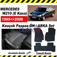 Mercedes W210 (E-Kasa) 1995-2006 Kauçuk Ön / Arka Araca Özel Paspas Seti