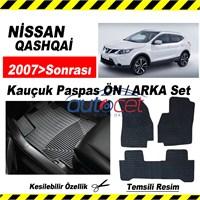 Nissan QASHQAİ 2007>Sonrası Kauçuk Ön / Arka Araca Özel Paspas Seti