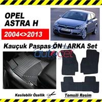 Opel ASTRA H 2004-2011 Kauçuk Ön / Arka Araca Özel Paspas Seti