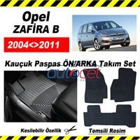 Opel ZAFİRA B 2004-2011 Kauçuk Ön / Arka Araca Özel Paspas Seti
