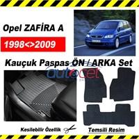 Opel ZAFİRA A 1998-2009 Kauçuk Ön / Arka Araca Özel Paspas Seti