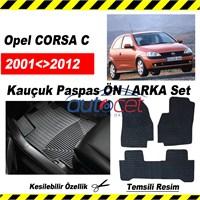 Opel CORSA C 2001-2006 Kauçuk Ön / Arka Araca Özel Paspas Seti