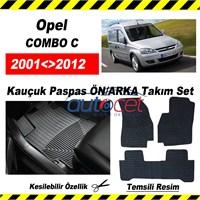 Opel COMBO C 2001-2012 Kauçuk Ön / Arka Araca Özel Paspas Seti