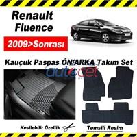 Renault Fluence 2009> Kauçuk Ön / Arka Araca Özel Paspas Seti