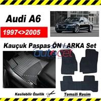 Audi A6 1997-2005 Kauçuk Ön / Arka Araca Özel Paspas Seti