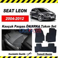 SEAT LEON 2004-2012 Kauçuk Ön / Arka Araca Özel Paspas Seti