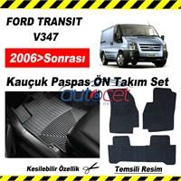FORD TRANSIT V347 2006> Sonrası Kauçuk Ön / Arka Araca Özel Paspas Seti