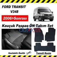FORD TRANSIT V348 2006> Sonrası Kauçuk Ön / Arka Araca Özel Paspas Seti