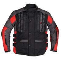 Tourex 3 Katlı Kışlık Korumalı Motosiklet Montu Kırmızı-Siyah