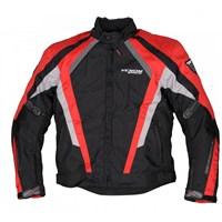 Tamino Kışlık Korumalı Motosiklet Montu Kırmızı-Siyah