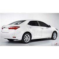 S-Dizayn Toyota Corolla 2014 Model ve Üzeri Cam Üst Çıtası 4 Parça Krom Paslanmaz Çelik