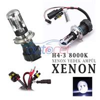 AutoCet H4-3 8000K UZUN/KISA Xenon Yedek Ampulü 4212a