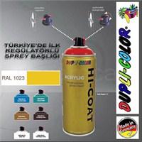 Dupli-Color Hi-Coat Ral 1023 Trafik Sarısı Parlak Akrilik Sprey Boya 400 Ml. Made in Germany 406492