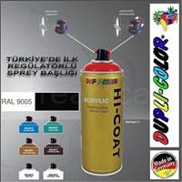 Dupli-Color Hi-Coat Ral 9005 Parlak Siyah Akrilik Sprey Boya 400 Ml. Made in Germany 406232