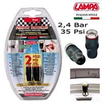 Lampa 2,4 Bar (35 Psi) Lastik Basınç Göstergeli Sibop Kapağı 02475